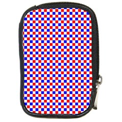 Blue Red Checkered Compact Camera Cases