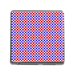 Blue Red Checkered Memory Card Reader (Square)