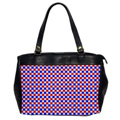 Blue Red Checkered Office Handbags