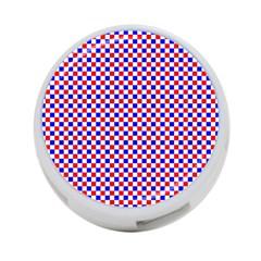 Blue Red Checkered 4-Port USB Hub (Two Sides)