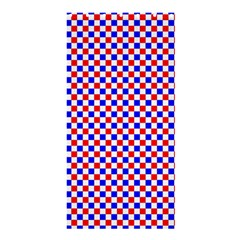 Blue Red Checkered Shower Curtain 36  x 72  (Stall)