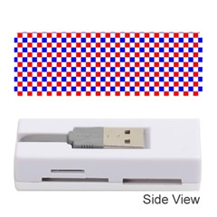 Blue Red Checkered Memory Card Reader (Stick)