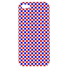 Blue Red Checkered Apple iPhone 5 Hardshell Case