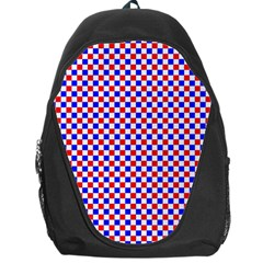 Blue Red Checkered Backpack Bag