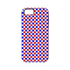 Blue Red Checkered Apple iPhone 5 Classic Hardshell Case (PC+Silicone)
