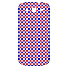 Blue Red Checkered Samsung Galaxy S3 S III Classic Hardshell Back Case