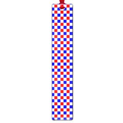 Blue Red Checkered Large Book Marks