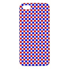 Blue Red Checkered Apple iPhone 5 Premium Hardshell Case