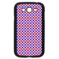 Blue Red Checkered Samsung Galaxy Grand DUOS I9082 Case (Black)