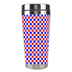 Blue Red Checkered Stainless Steel Travel Tumblers