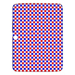 Blue Red Checkered Samsung Galaxy Tab 3 (10.1 ) P5200 Hardshell Case