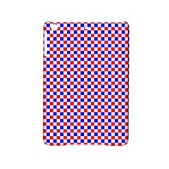 Blue Red Checkered iPad Mini 2 Hardshell Cases