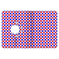 Blue Red Checkered Kindle Fire HDX Flip 360 Case