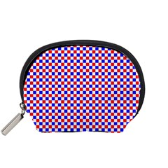 Blue Red Checkered Accessory Pouches (Small)