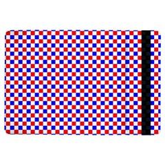 Blue Red Checkered iPad Air Flip