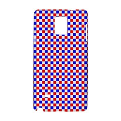 Blue Red Checkered Samsung Galaxy Note 4 Hardshell Case