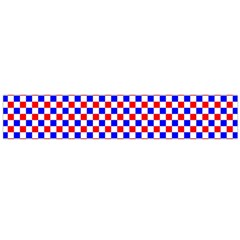 Blue Red Checkered Flano Scarf (Large)