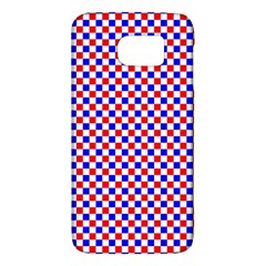 Blue Red Checkered Galaxy S6