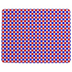 Blue Red Checkered Jigsaw Puzzle Photo Stand (Rectangular)