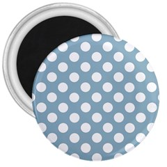 Blue Polkadot Background 3  Magnets