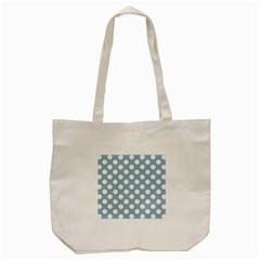 Blue Polkadot Background Tote Bag (cream)