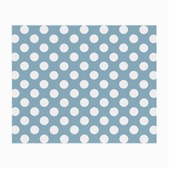 Blue Polkadot Background Small Glasses Cloth