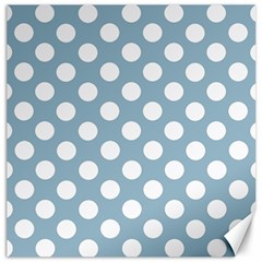 Blue Polkadot Background Canvas 12  x 12