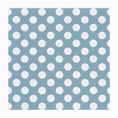 Blue Polkadot Background Medium Glasses Cloth (2-Side)
