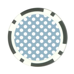Blue Polkadot Background Poker Chip Card Guard (10 pack)