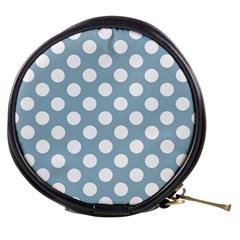 Blue Polkadot Background Mini Makeup Bags