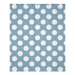 Blue Polkadot Background Shower Curtain 60  x 72  (Medium)