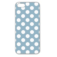 Blue Polkadot Background Apple Seamless iPhone 5 Case (Clear)