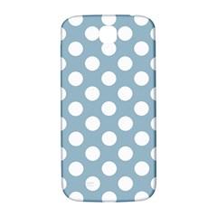 Blue Polkadot Background Samsung Galaxy S4 I9500/I9505  Hardshell Back Case