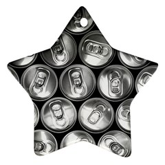 Black And White Doses Cans Fuzzy Drinks Ornament (Star)