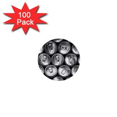 Black And White Doses Cans Fuzzy Drinks 1  Mini Buttons (100 pack)