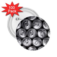 Black And White Doses Cans Fuzzy Drinks 2.25  Buttons (100 pack)
