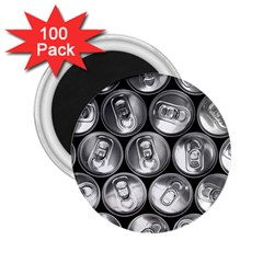 Black And White Doses Cans Fuzzy Drinks 2.25  Magnets (100 pack)