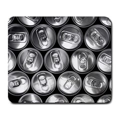Black And White Doses Cans Fuzzy Drinks Large Mousepads