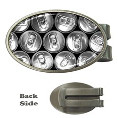 Black And White Doses Cans Fuzzy Drinks Money Clips (Oval)