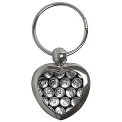 Black And White Doses Cans Fuzzy Drinks Key Chains (Heart)