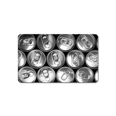 Black And White Doses Cans Fuzzy Drinks Magnet (Name Card)