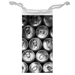 Black And White Doses Cans Fuzzy Drinks Jewelry Bag