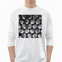 Black And White Doses Cans Fuzzy Drinks White Long Sleeve T Shirts