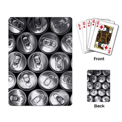 Black And White Doses Cans Fuzzy Drinks Playing Card