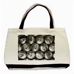 Black And White Doses Cans Fuzzy Drinks Basic Tote Bag