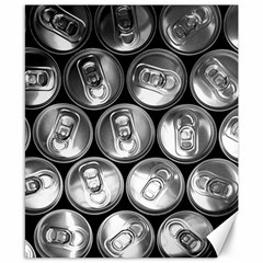 Black And White Doses Cans Fuzzy Drinks Canvas 8  x 10
