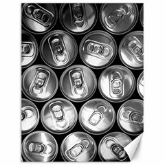Black And White Doses Cans Fuzzy Drinks Canvas 12  x 16