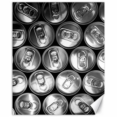 Black And White Doses Cans Fuzzy Drinks Canvas 16  x 20