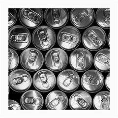 Black And White Doses Cans Fuzzy Drinks Medium Glasses Cloth (2-Side)