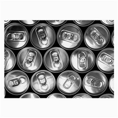 Black And White Doses Cans Fuzzy Drinks Large Glasses Cloth
